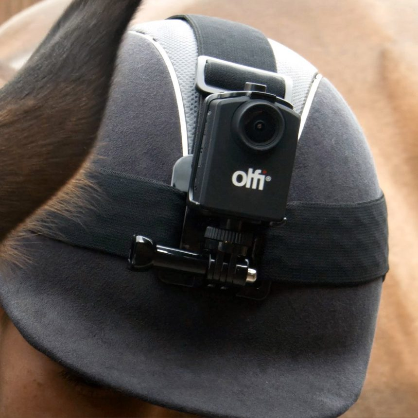 Olfi Head Strap on Horse Riders Helmet