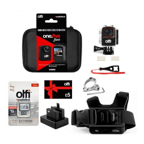 Olfi one.five Black MTB Action Camera Bundle